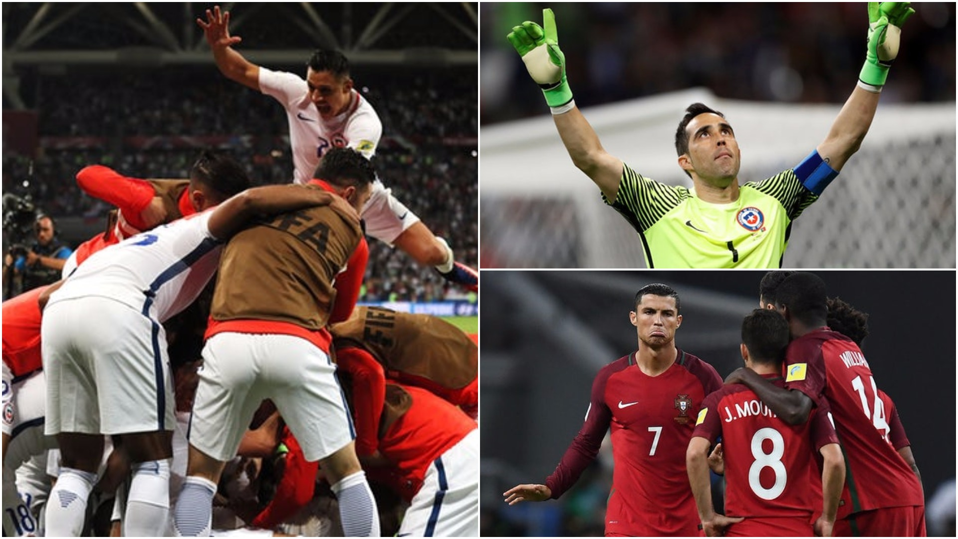 Bravo performance: Chile's keeper saves three penalties to send Portugal out of #ConfedCup