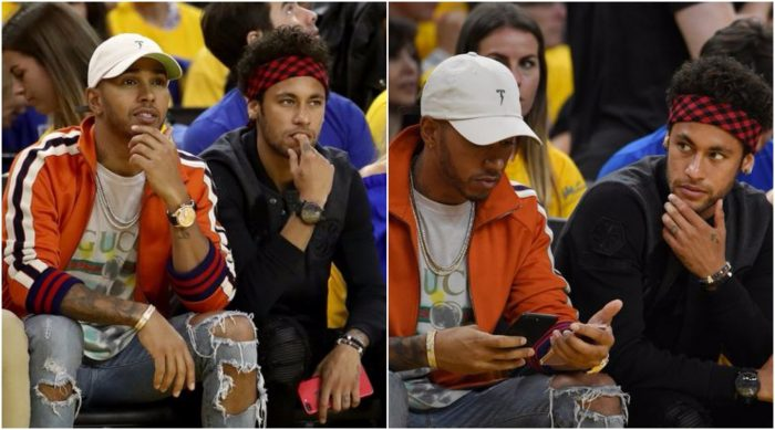 Too cool to ignore: Just photos of Neymar and Lewis Hamilton seeing the NBA finals