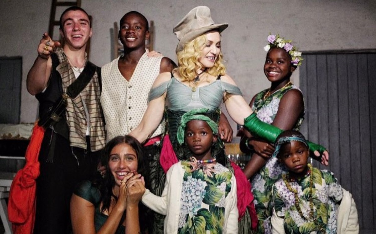 See Madonna's first family portrait with all her children