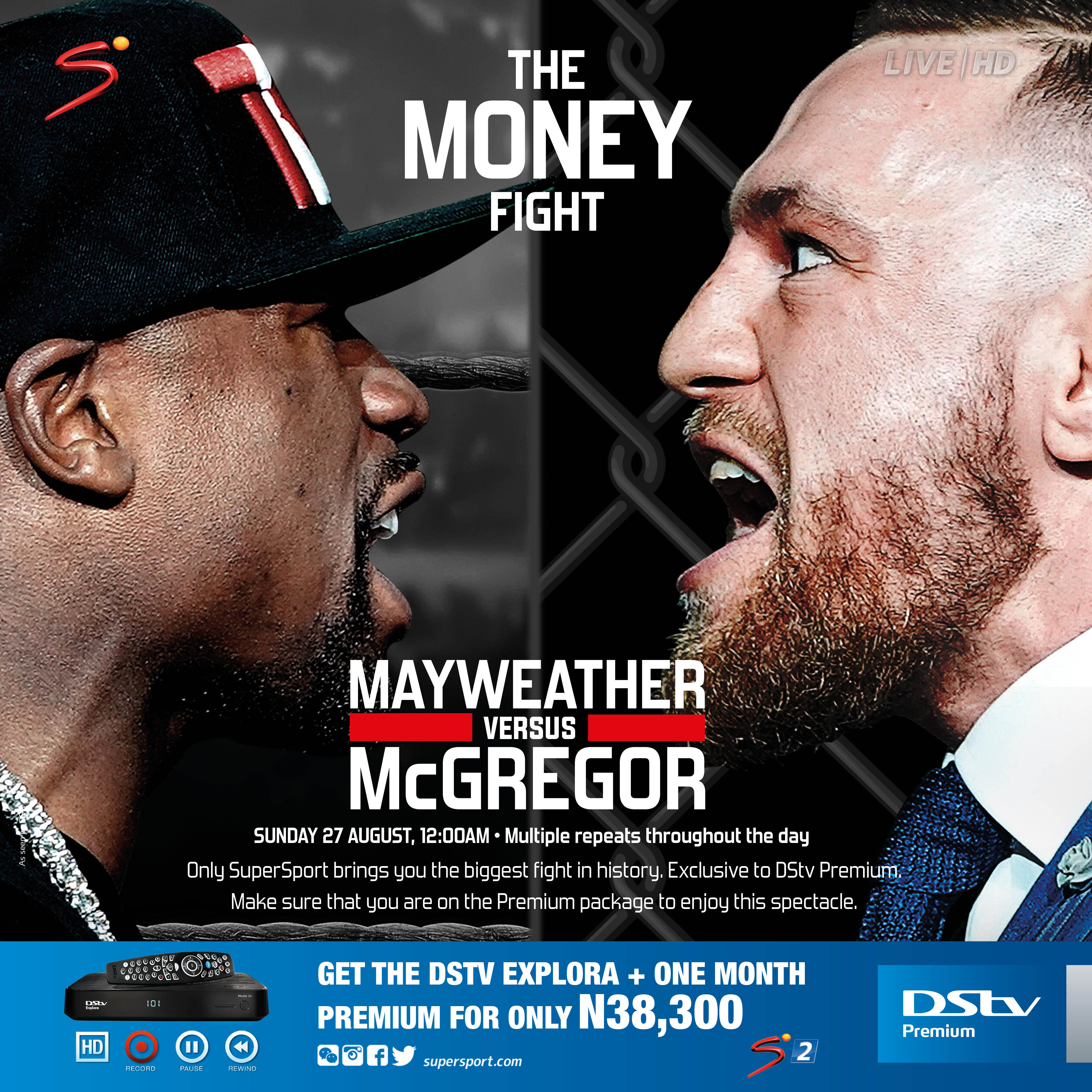 Catch The Money Fight LIVE on DStv Premium