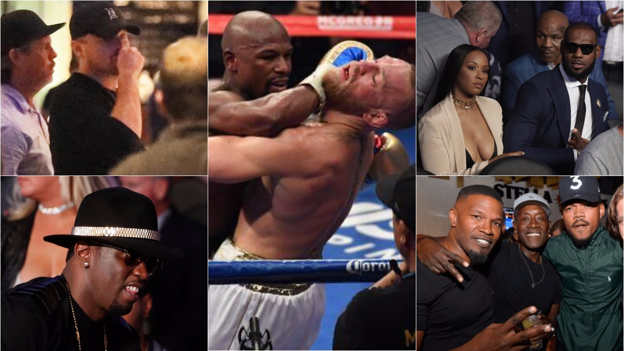 Diddy, LeBron James, Charlize Theron, Leonardo DiCaprio, more watch Floyd Mayweather fight