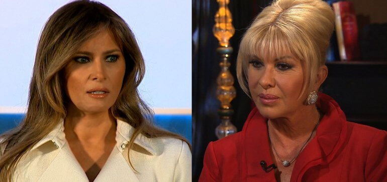 Donald Trump's first wife, Ivana says she's the real First Lady in new interview and Melania isn't letting it slide