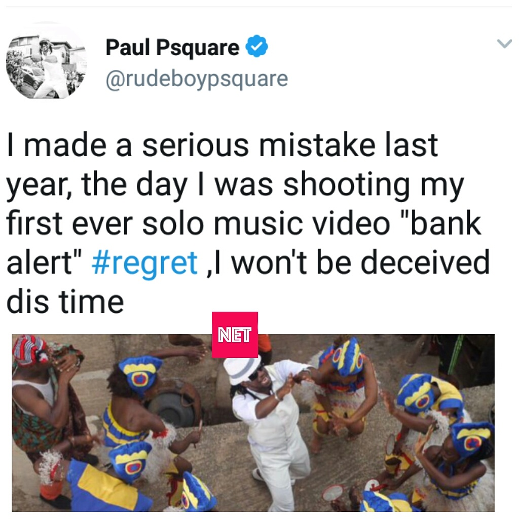 Psquare: Paul Okoye Regrets Allowing Peter To Join Him On 'Bank Alert', A Song He Calls His