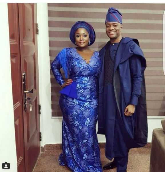 Toolz And Her Husband Captain Tunde Demuren Celebrate 2 Years Tradiversary