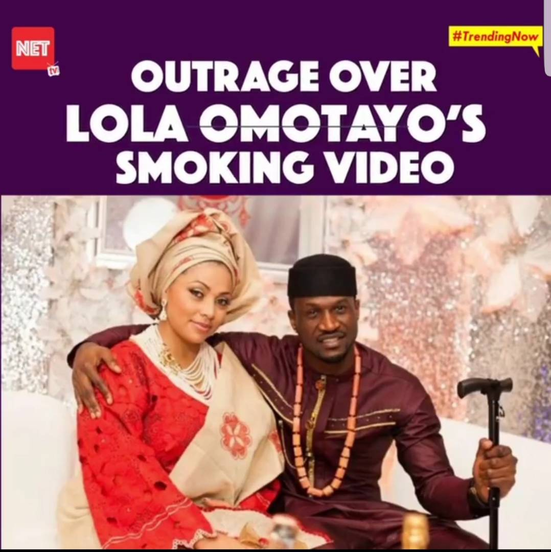 #TrendingNow: Fans Drag Peter Okoye's Wife, Lola Omotayo For Smoking