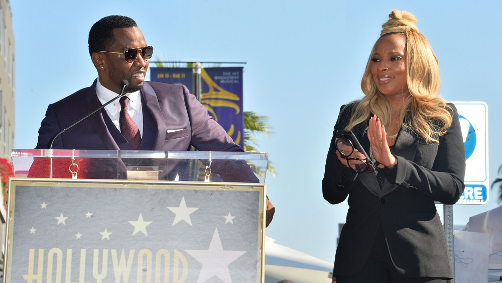 Mary J Blige Supported By Longtime Friend Sean 'Diddy' Combs As She Received Her Hollywood Walk Of Fame Star