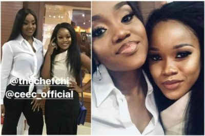 Cee-C Jets Back To Lagos With Davido and Chioma