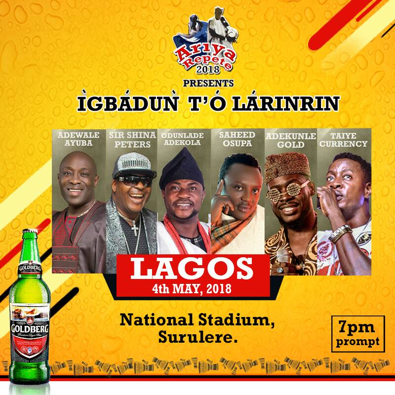 Ariya Repete: Artistes In High Spirit for Semi-Final As Saheed Osupa, Taye Currency, Adekunle Gold Prepare To Thrill Lagos Fans