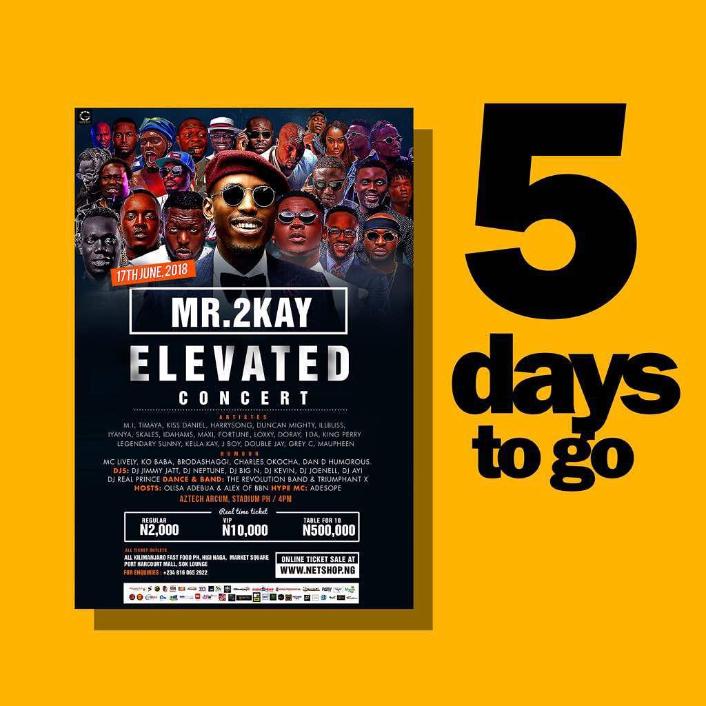 5 Days To Go! Here Are Five Reasons Why You Should Not Miss Mr 2Kay's ELEVATED Concert