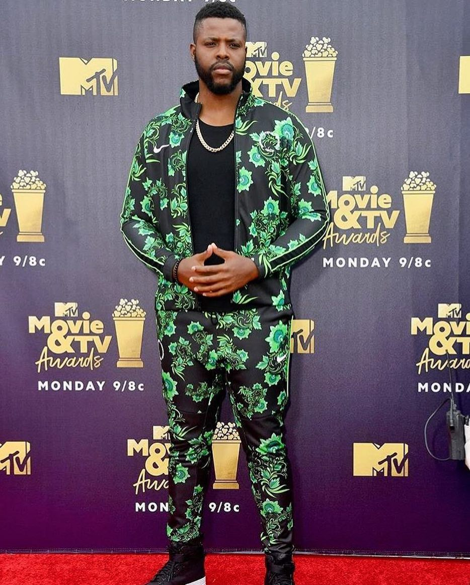 Black Panther Star Winston Duke Rocks Super Eagles World Cup Tracksuit at The MTV Movie and TV Award