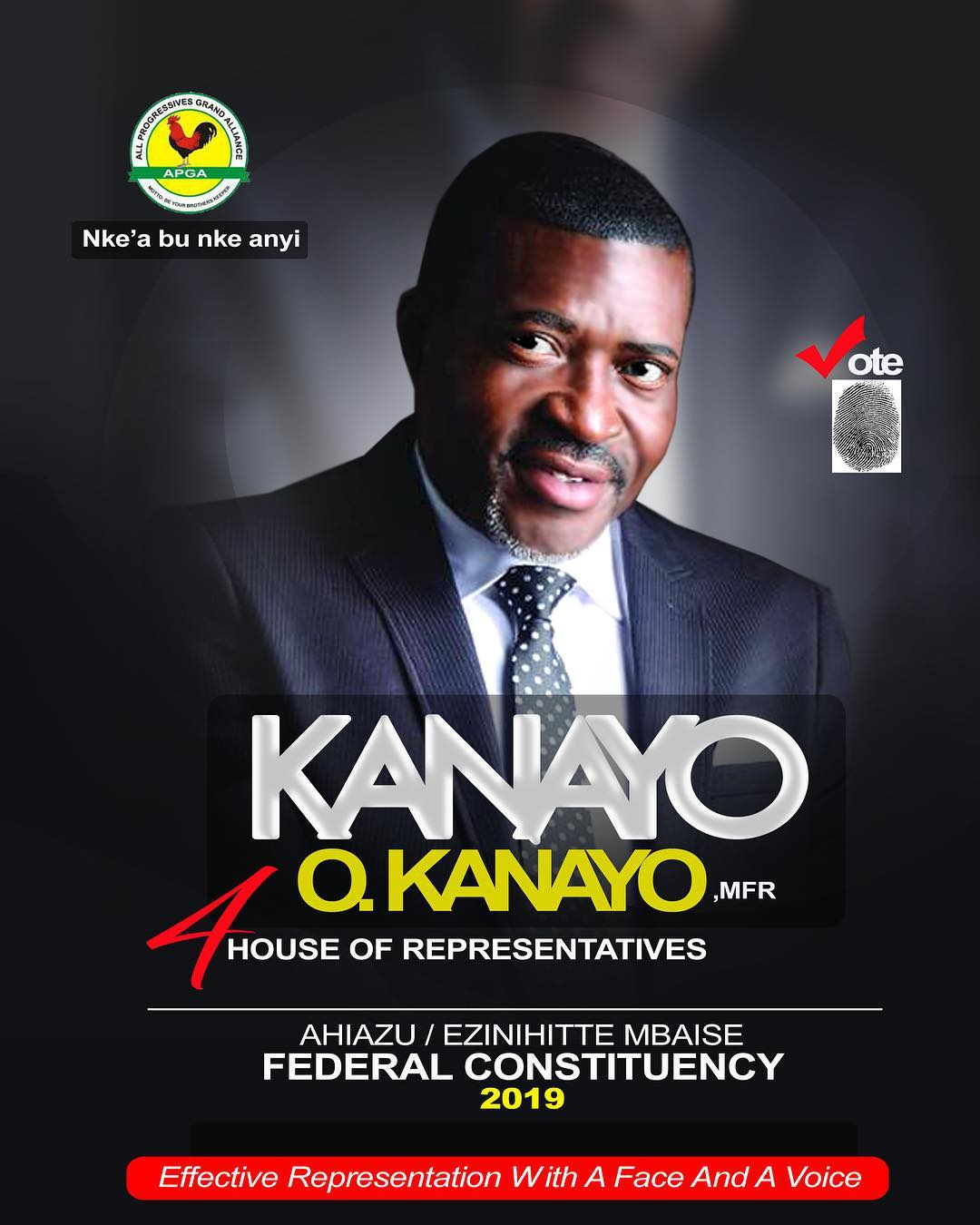 Veteran Nollywood Actor Kanayo O Kanayo Unveils Campaign Posters For 2019 Elections