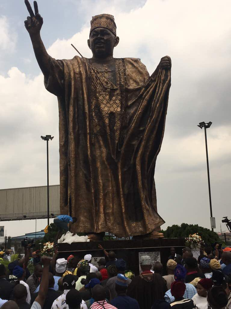 Governor Akinwunmi Ambode Unveils New MKO Abiola Statue As Lagos Marks June 12 Democracy Day