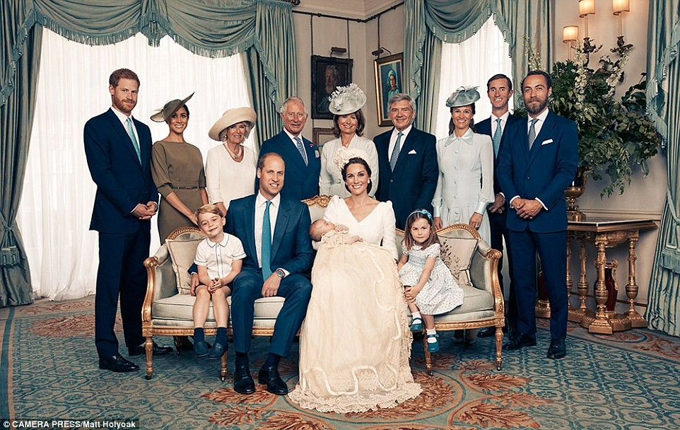 British Royal Family Releases Official Photos From Prince Louis' Christening
