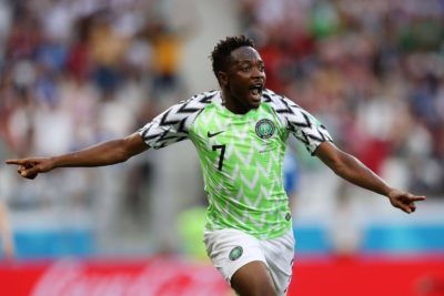 "Russia 2018: Ahmed Musa's Dazzling Goal Against Iceland Nominated For ""Goal Of The Tournament"""