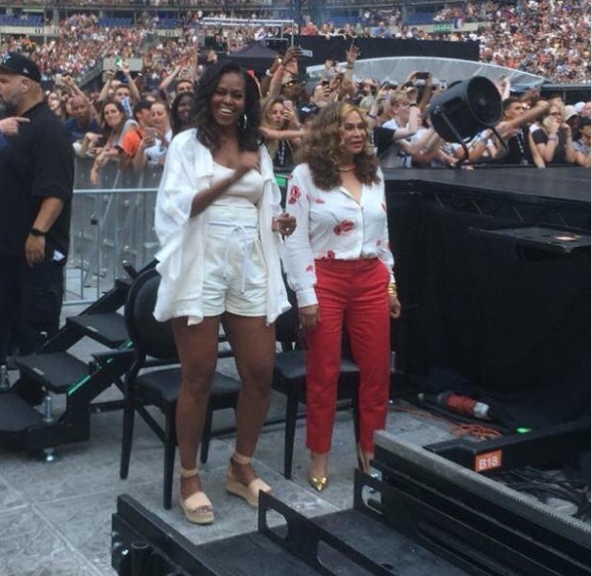 Michelle Obama, Beyonce's Mum, Tina Lawson Spotted Having A Good Time At Beyonce and Jay Z's Tour in Paris