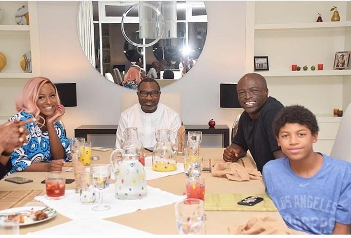 British-Nigerian Singer Seal Visits Nigerian Billionaire Femi Otedola and Daughter DJ Cuppy In Their Home