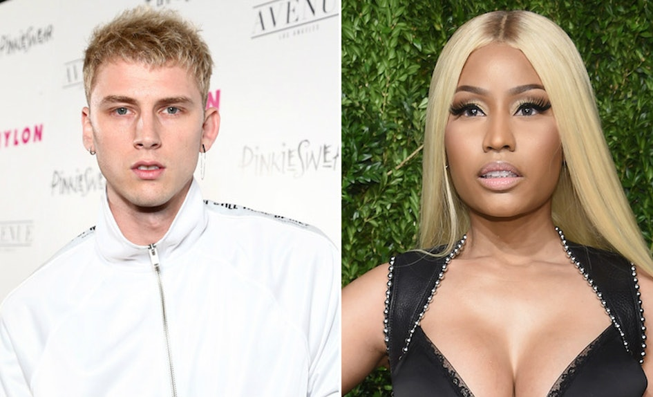 Rapper MGK 'Shoots His Shot' At Nicki Minaj After She Asked If Pete Davidson Has A Brother