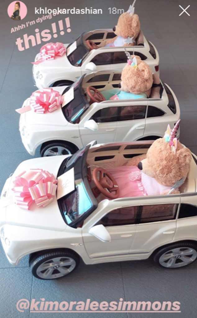 Khloe Kardashian's Daughter, True Thompson Gets A Mini Bentley Gift