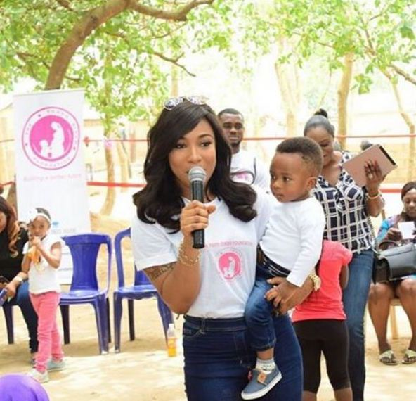 'If The Hair On My Son's Body Is Touched!' - Tonto Dikeh Warns Police Over Alleged Plans To Arrest Her