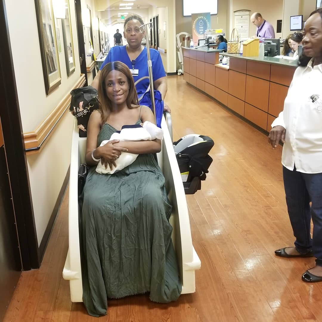 Linda Ikeji Reveals The Name Of Her Child As She Gets Discharged From Hospital
