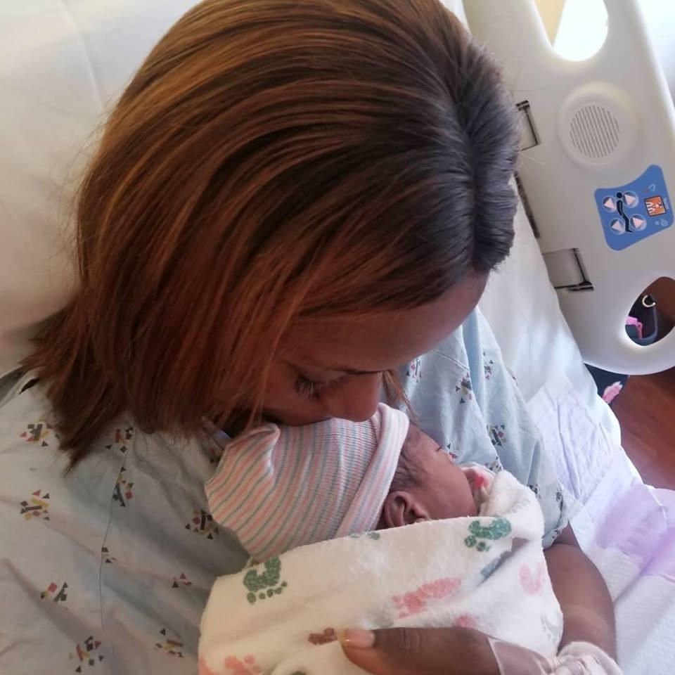 Linda Ikeji Shares New Photos Of Herself and Her Newborn Baby J
