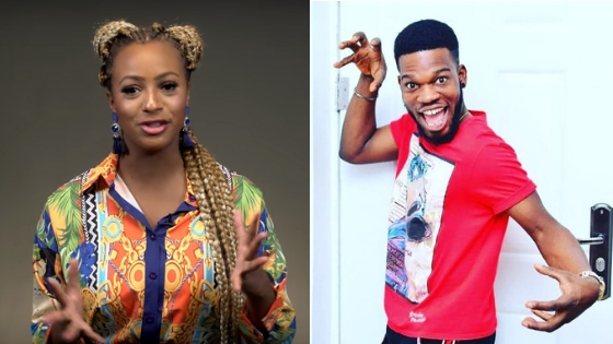 "We Think There's A ""Web Romance"" Between DJ Cuppy And Broda Shaggi"