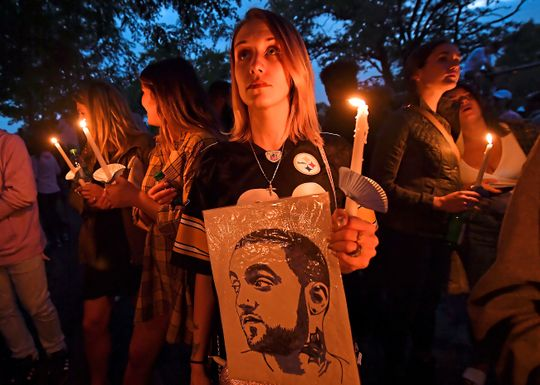 Photos: Hundreds Of Distraught Fans Gather At Blue Slide Park, Pittsburgh For Late Rapper Mac Miller's Memorial Vigil