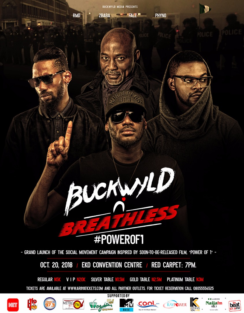 RMD Co-Headlines Buckwyld 'n' Breathless With 2Baba, Falz and Phyno