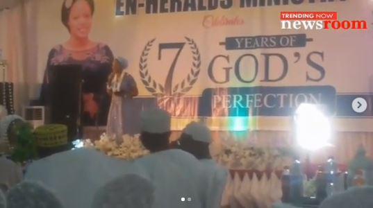 WATCH: Olori Shilekunola Returns To church A Week After Marrying Ooni of Ife