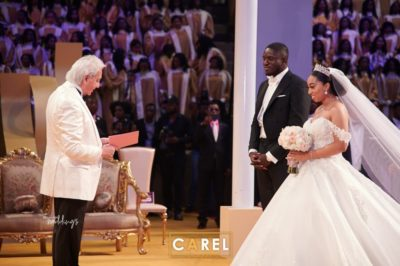 See Photos From Sharon Oyakhilome and Philip Frimpong's White Wedding Ceremony In Lagos