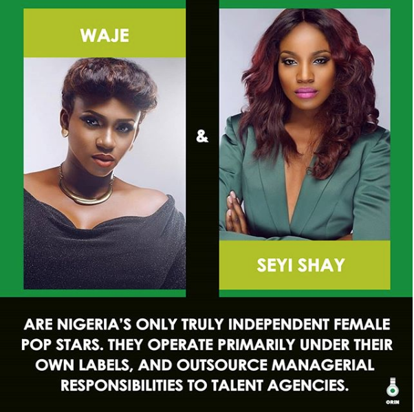 Waje And Sheyi Shay Are Nigeria's Only Truly Independent Female Pop Stars | #ORINBreakdown