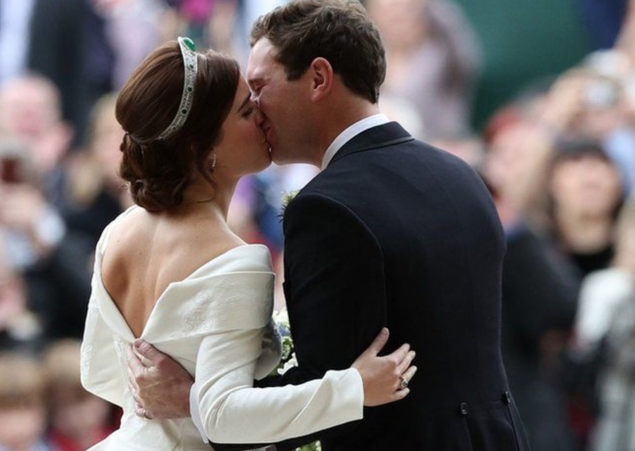 #RoyalWedding: Princess Eugenie Got Married To Jacks Brooksbank Wearing A Low Backed Gown, And A Tiara Borrowed From The Queen