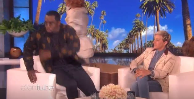 Watch Diddy Freak Out After Ellen DeGeneres Pulled An Epic Halloween Prank on Him