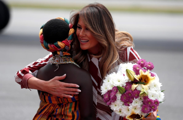 Melania Trump Lands In Ghana For Four-Nation Visit That Excludes Nigeria