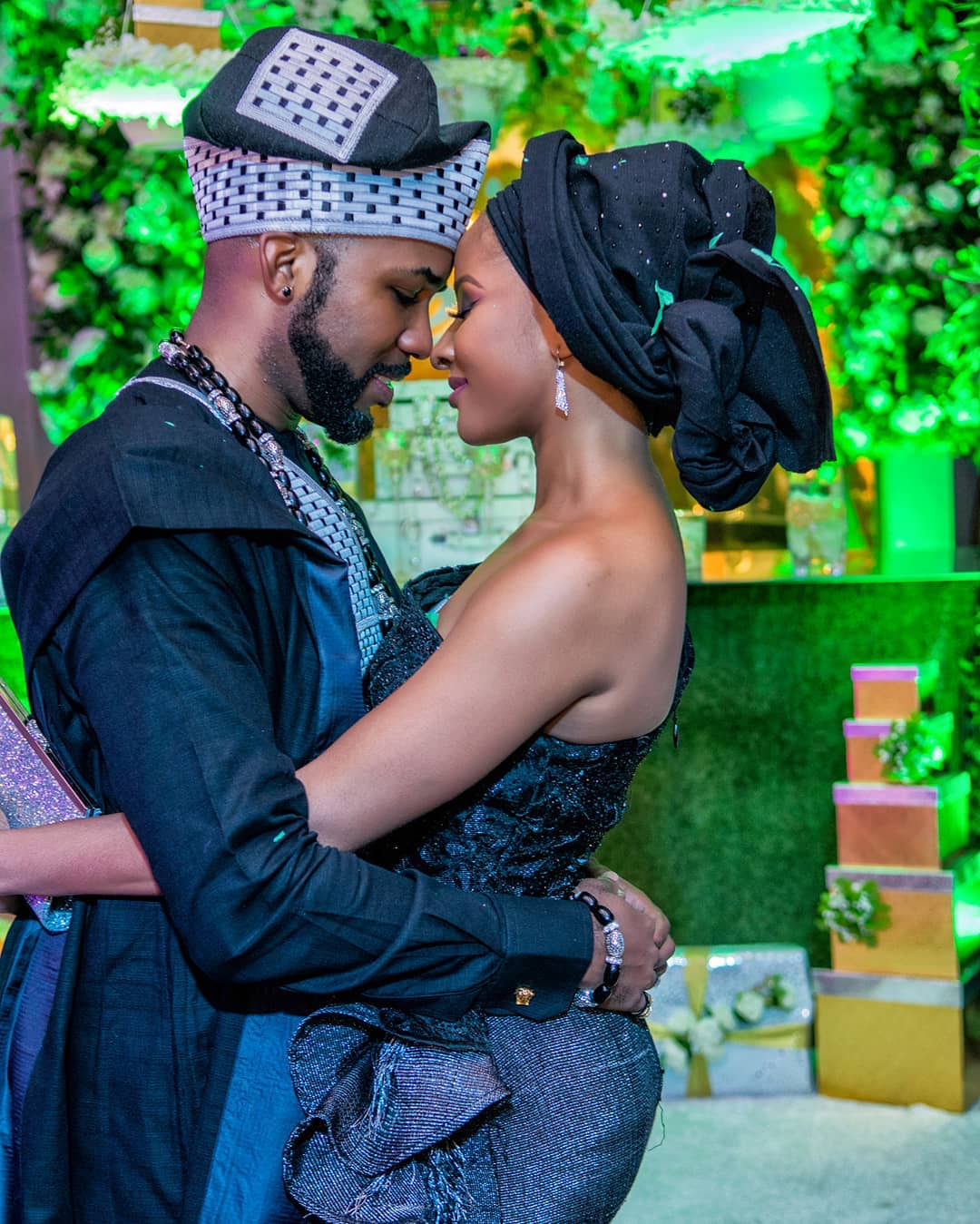 #BAAD Is One: Banky W and Adesua Etomi Celebrate Their First Traditional Wedding Anniversary