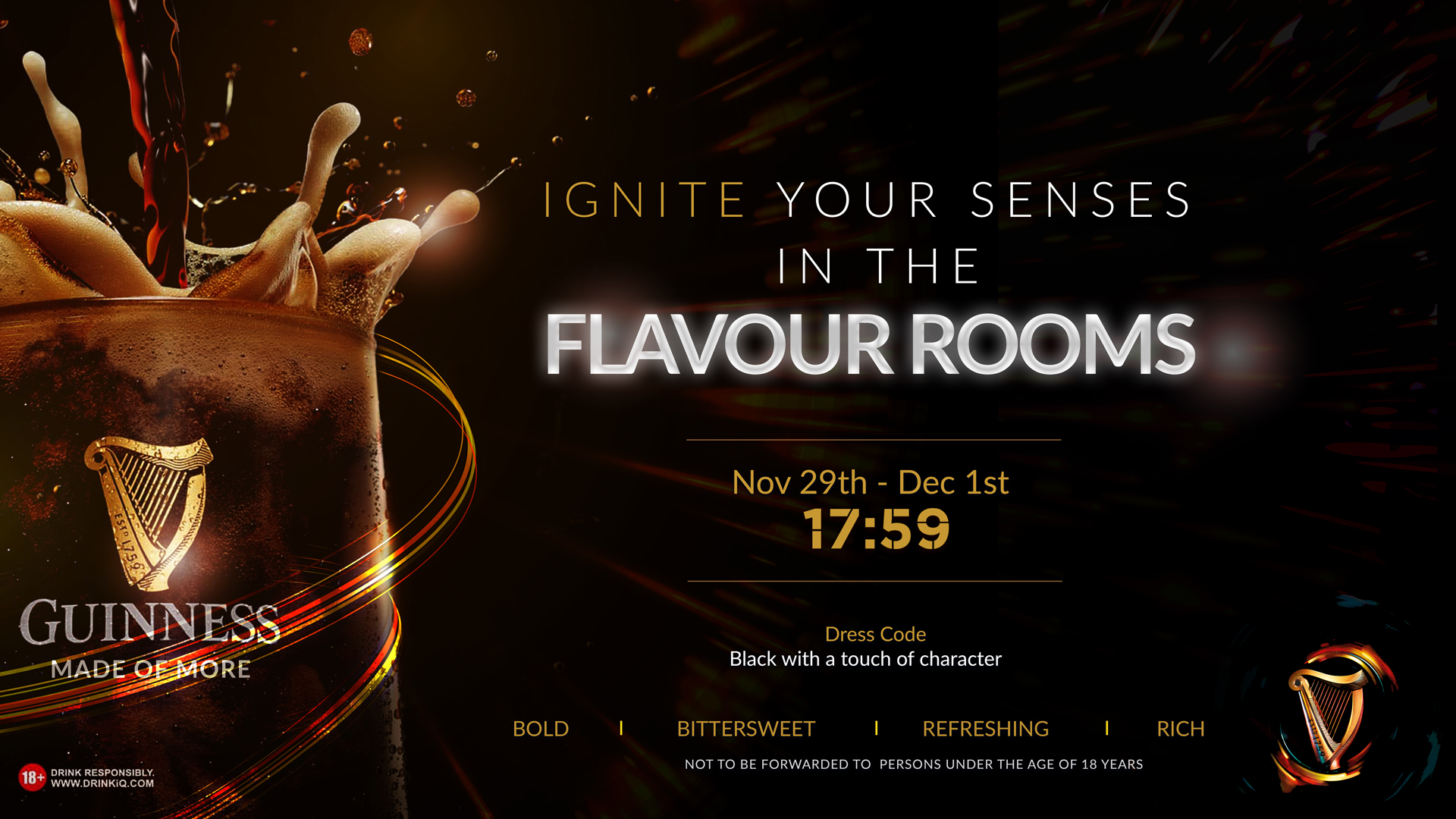 Come Excite Your Senses At The Guinness Flavour Rooms This Weekend