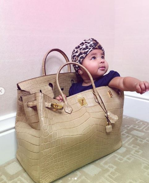 Khloe Kardashian Allows Daughter True Thompson Play In Her $60k Bag And Fans Are Not Having It