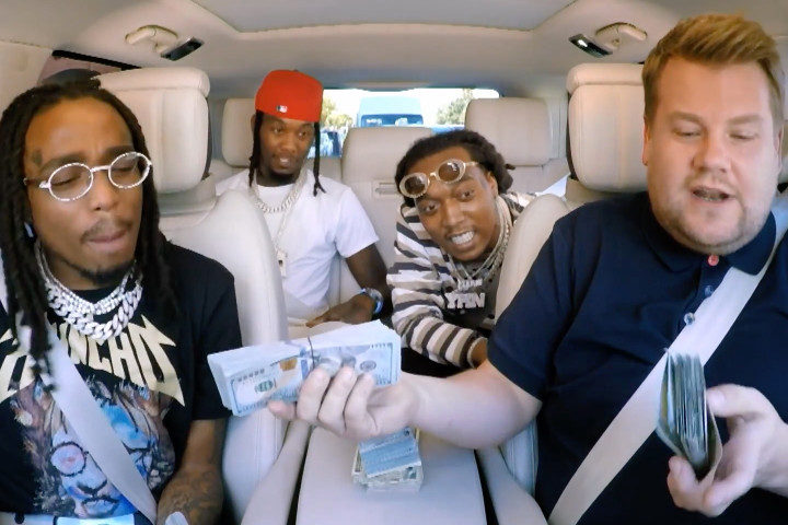 "Migos Show James Corden How To ""Trap"" On Carpool Karaoke"