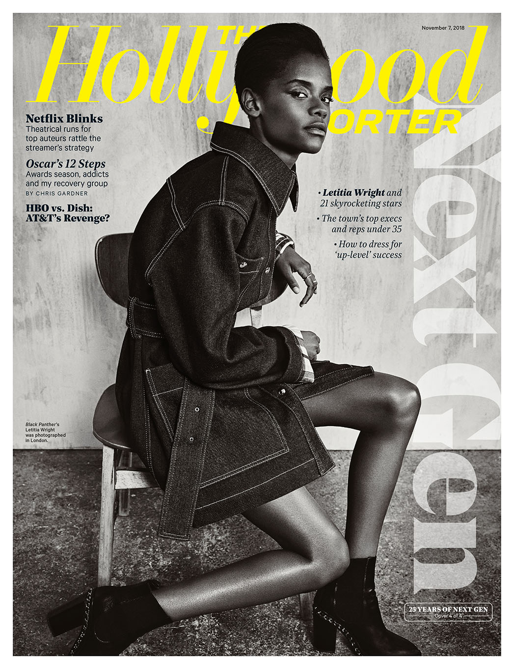 "Letitia Wright From ""Black Panther"" Movie Covers The Hollywood Reporter 'Next Generations' Issue, Talks Battling Depression"