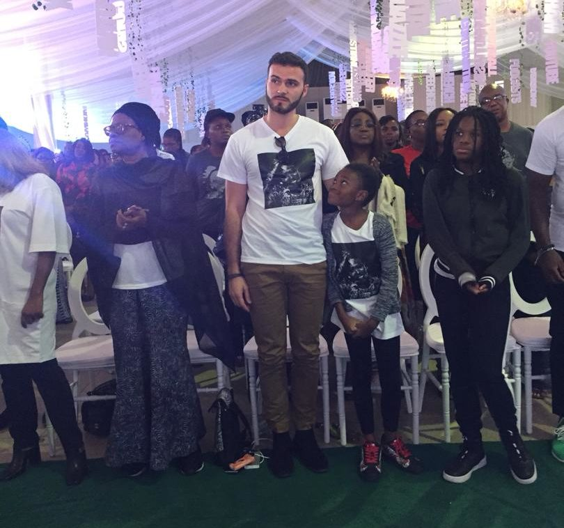 Tosyn Bucknor's Service Of Songs: Husband, Aurélien Boyer Makes First Public Appearance After Her Death