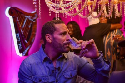Rio Ferdinand Experiences The Unique Character Of Guinness At Flavour Rooms