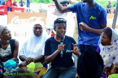 "Photos From Annie Idibia's ""AI Care Foundation"" Outreach For 500 Women In Ikorodu"