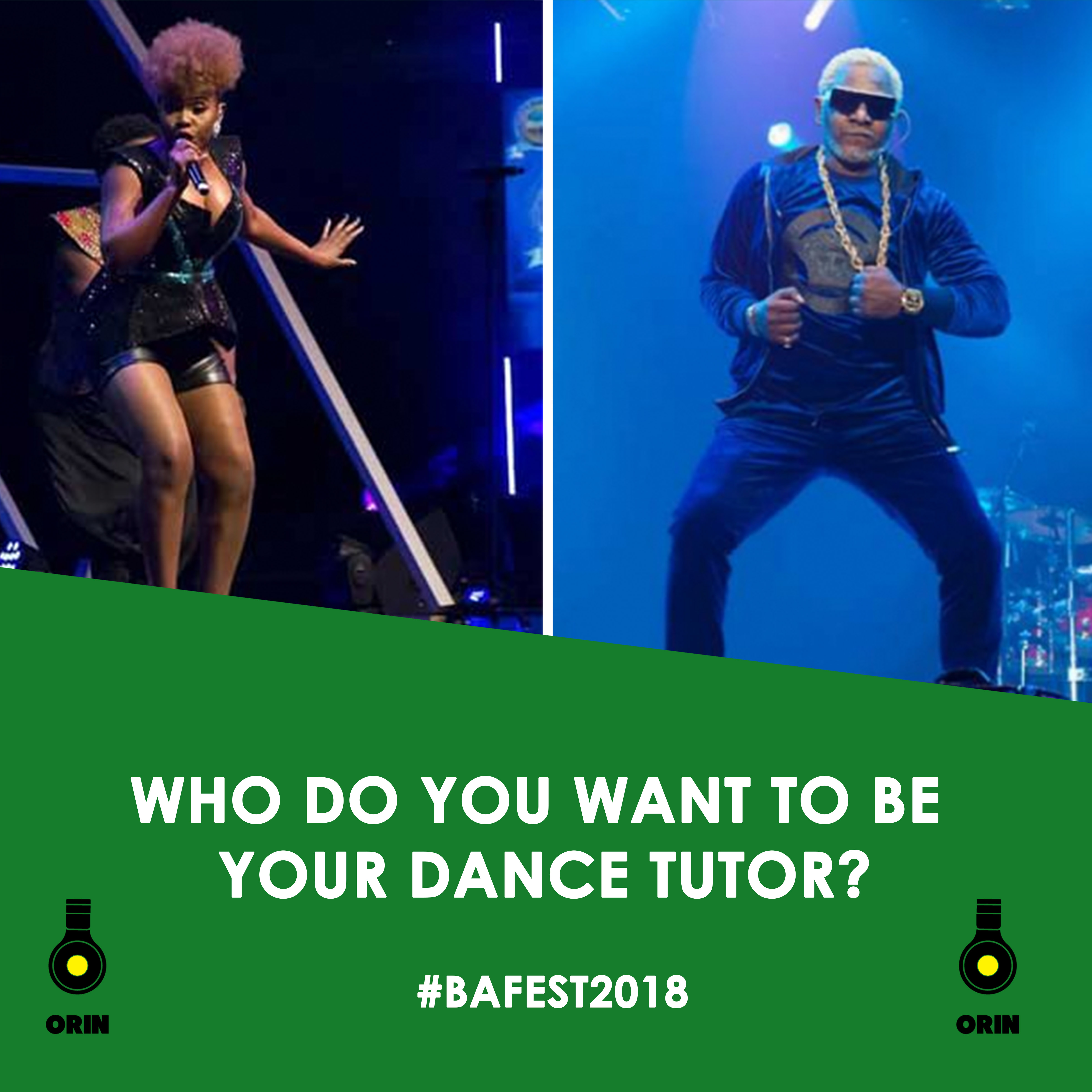 BAFEST 2018: Choose Between Yemi Alade And Awilo Longomba To Be Your Dance Tutor
