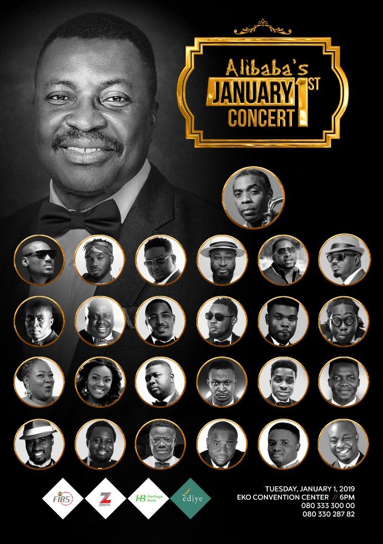 Femi Kuti, 2face Idibia, Wande Coal joins Alibaba January 1st 2019 Concert