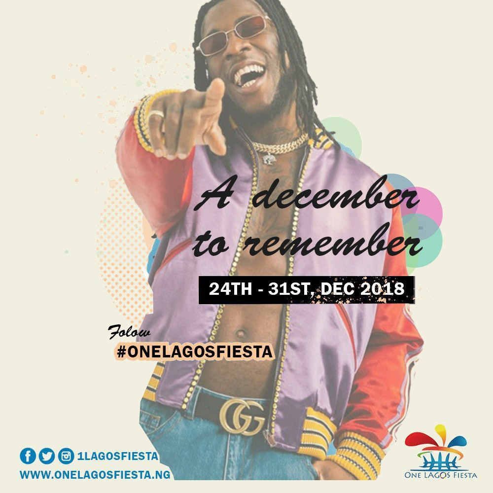 Burna Boy, Olamide And Twenty-Two Other Artistes That Will Bring One Lagos Fiesta To A Climax Tonight