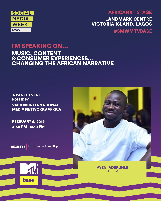 BHM's Ayeni Adekunle Named As Social Media Week Lagos Panelist
