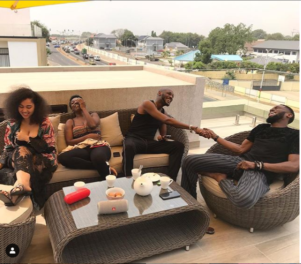 Best Friend Goals! See Photos From D'banj and 2Baba's  Ghana Baecation With Their Wives