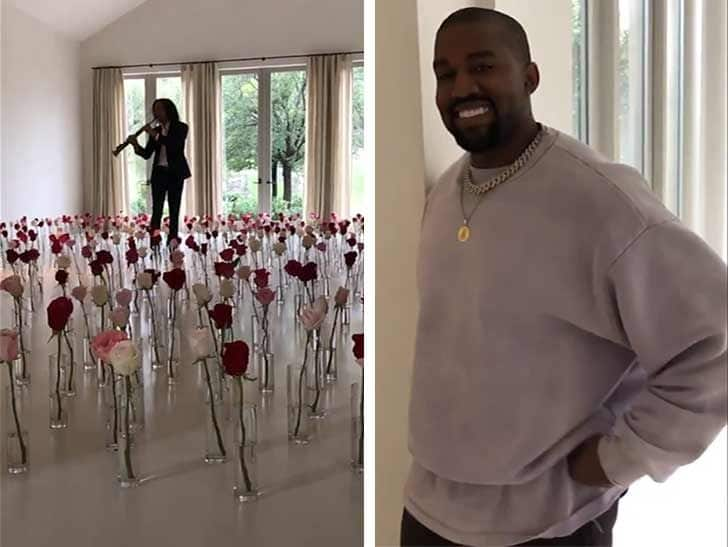 Kanye West Surprises Kim Kardashian With A Romantic Performance By Kenny G For Valentine's Day