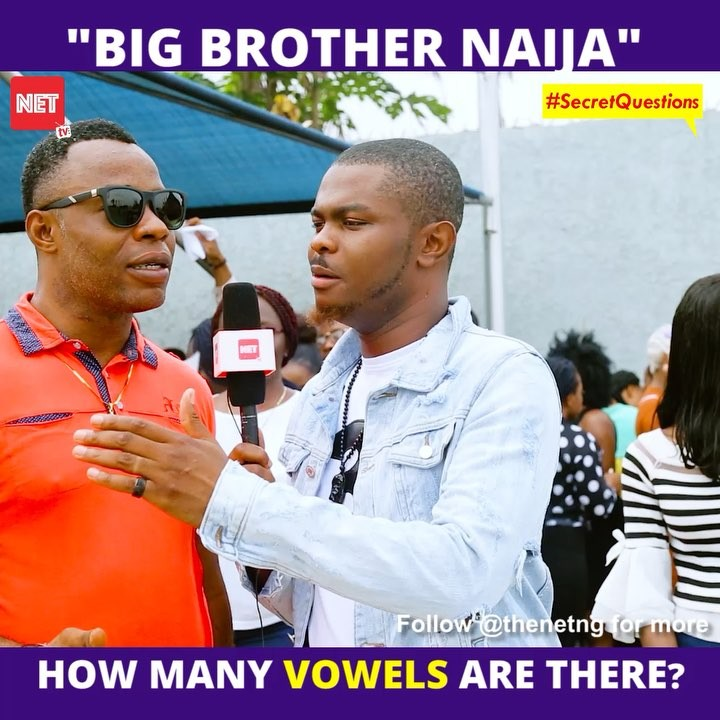 """Street Love: How Many Vowels Are In """"Big Brother Naija""""?"""
