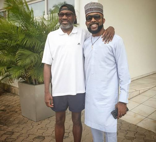 #NigeriaDecides: Banky W And Billionaire Femi Otedola Hang Out Before Election